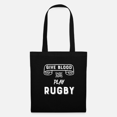 Amusing Give blood and play rugby funny - Tote Bag