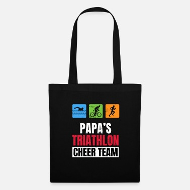 Triathlon Papas Triathlon Supporters Family Cheer - Tote Bag