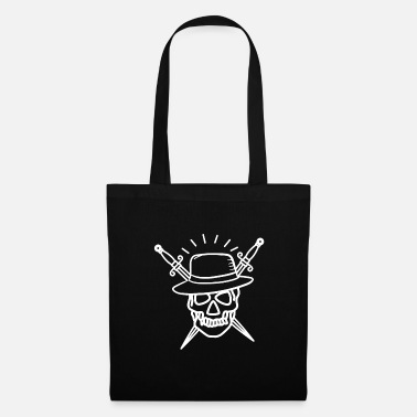Serpent Tattoo with skull and daggers - Tote Bag