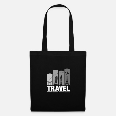 Shrine Shrine & Tower Travel Addict | Cool Tourist Flyer - Tote Bag
