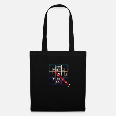Horizontal Thinking Outside / Crossword Puzzle / Autism Day - Tote Bag