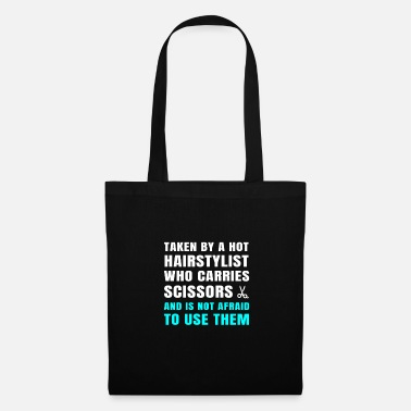 Us Taken By A Hairstylist Boyfriend Husband Funny - Tote Bag
