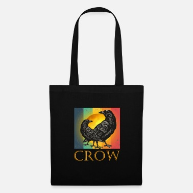 Vita Vintage Retro Crow- Cool Bird Design- Black Humor - Borsa di stoffa
