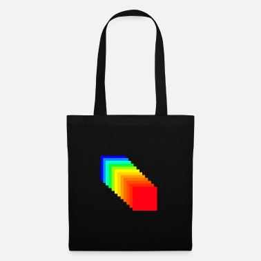 Carreaux carreaux arc-en- - Tote Bag