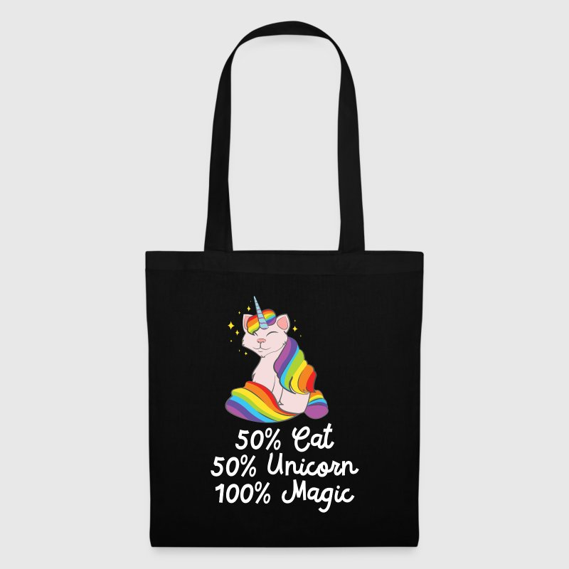 50% Cat, 50% Unicorn, 100% Unicorn - Tote Bag