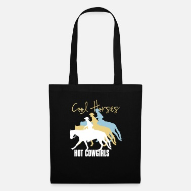 Cow Girl Chevaux cool - cow-girls - Tote Bag
