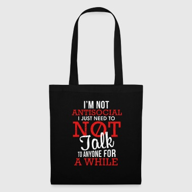Unsocial People Introvert Gift Introvert - Borsa di stoffa