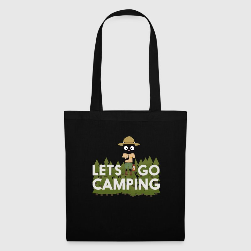 Camping cat in the Park Ranger uniform - Tote Bag
