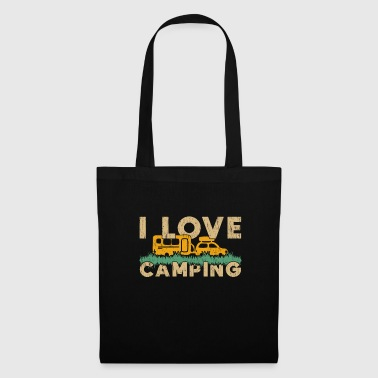 I Love camping saying gift tents fire - Tote Bag