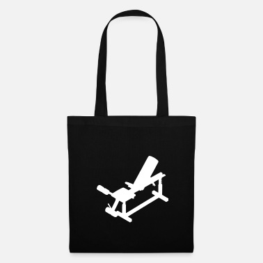 Feeling Fitness sports equipment graphic white - Tote Bag