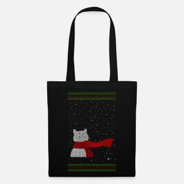 Knitted Snowcat (white) - Tote Bag