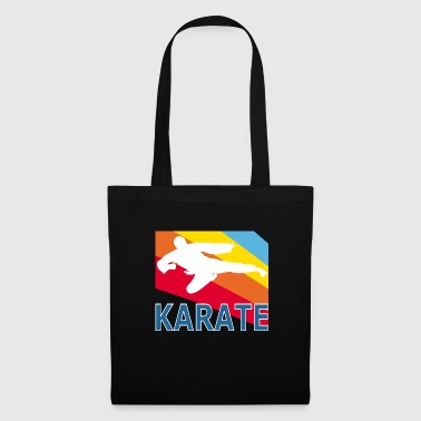 Retron Vintage Style Karate Martial Arts Fighter - Tote Bag