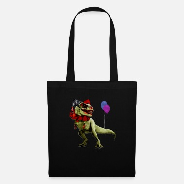 Horror T-Rex Harlequin Dinosaur Halloween Shirt - Tote Bag
