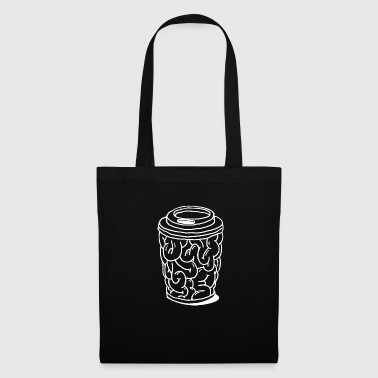 Brain to go brain coffee mug gift - Tas van stof