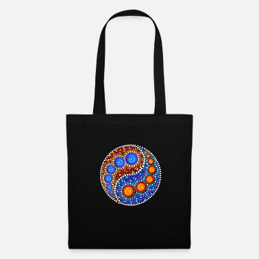 Zen Yin Yang Dot Art Dots Sign Shapes Yoga Om Zen - Bolsa de tela