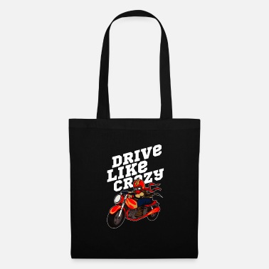 Best Grandpa Wild Biker Drive Like Crazy Gift Idea - Tote Bag