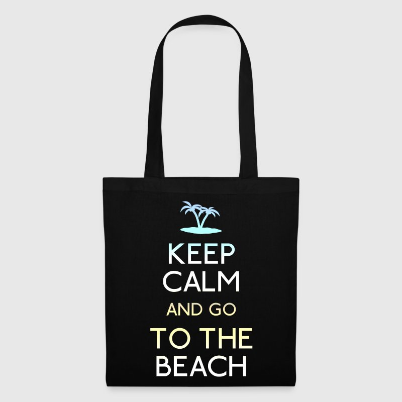 keep calm go to the beach - Tote Bag