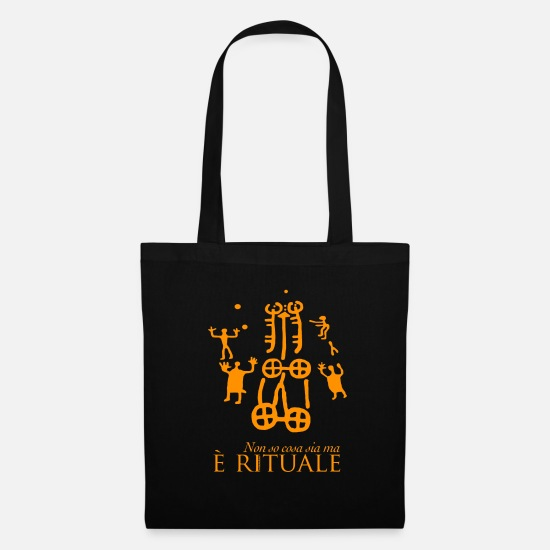 Dig Bags & Backpacks - I do not know what it is but it is ritual - Tote Bag black