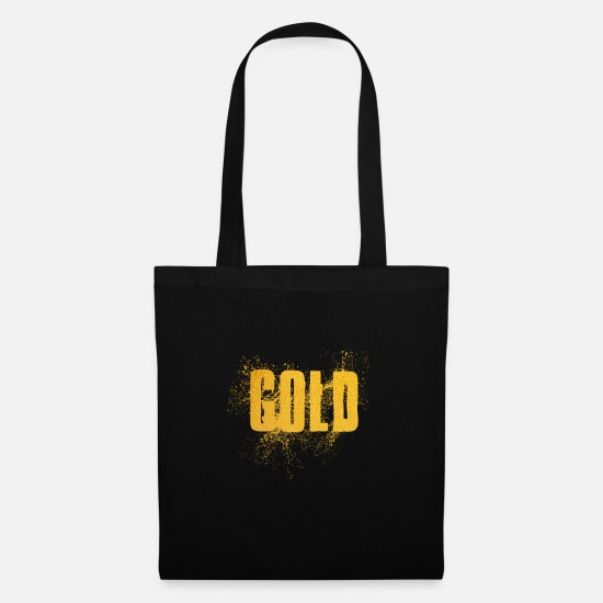 Gold Bags & Backpacks - gold - Tote Bag black