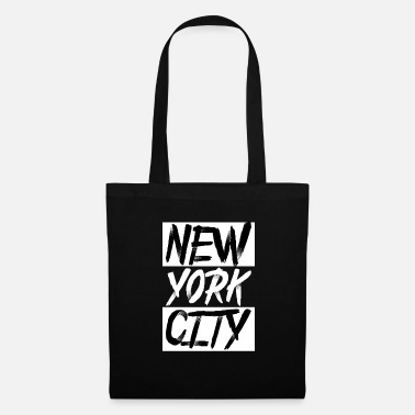 Usa New York City USA grappige typografie Souvenir - Tas van stof