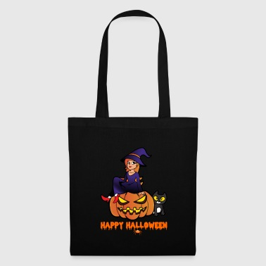 Sorcière halloween monstre citrouille monstre zombie - Tote Bag
