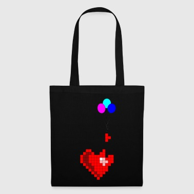 Pixel with heart - Tote Bag
