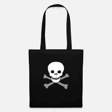 Humor Humour Fun Funny Joke Hilarious Fun Witty Laugh Cool skull and crossbones - Tote Bag