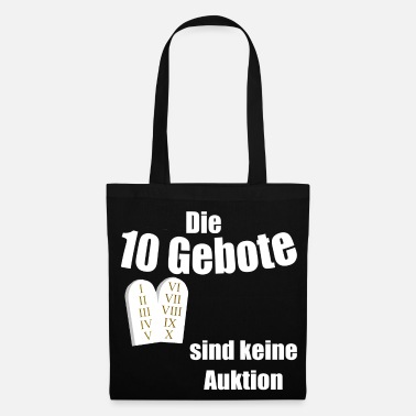 Auctions The 10 Commandments are not an auction, design religion - Tote Bag