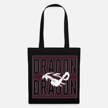 Tatouage Tribal dragon dragon, tête de dragon, dragon chinois, - Tote Bag