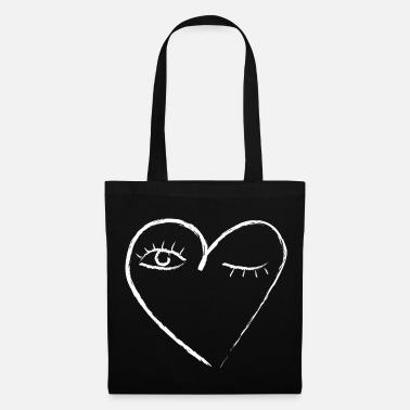 Eyelashes Heart love love valentines day eyes romantic - Tote Bag