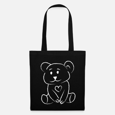 Pinceau Ours Ours Amour Coeur Amour Ours En Peluche - Tote Bag