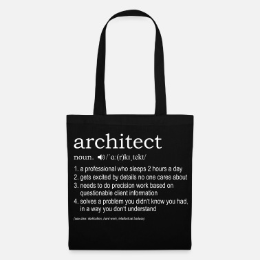 Architetto Architect definition - Borsa di stoffa