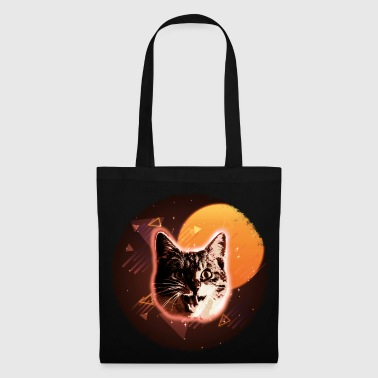 Edm Cat Face Shirt Trippy Disco Rave Neon 80s Retro Kitten Tee - Tote Bag