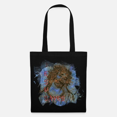 Paint Jesus Save Abstract Pop Modern Art - Tote Bag