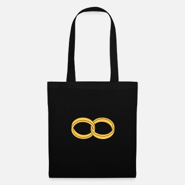 Love wedding rings - like a Symbol of infinity - Tote Bag