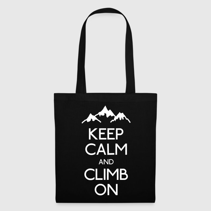 keep calm rock climbing mantener calma escalada - Bolsa de tela