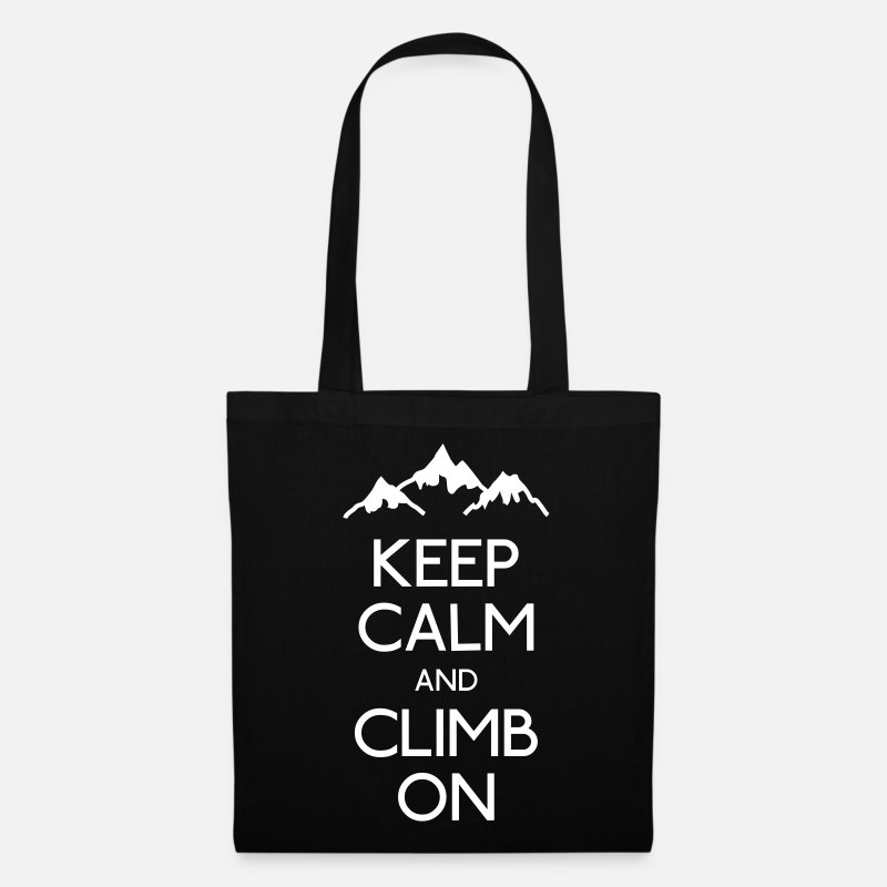Climbing Bags & Backpacks - keep calm and climb on - Tote Bag black