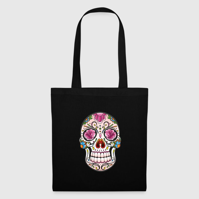 Mexican Sugar Skull, day of the dead - Tote Bag