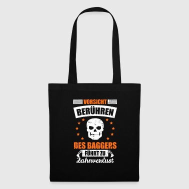 Drôle de chef de pelle de conducteur de drague d'excavatrice - Tote Bag