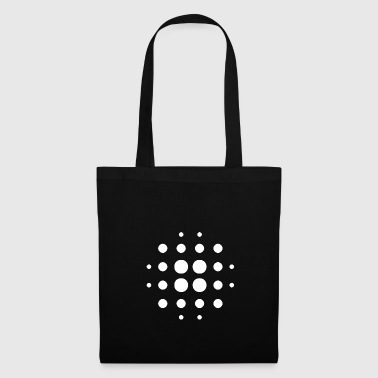 Form Blurry | Points | White | gift idea - Tote Bag