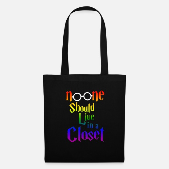 Closet Bags & Backpacks - no one should live in a closet - Tote Bag black