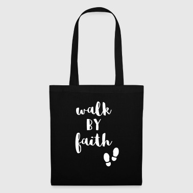 Bible Verse Walk by Faith - Bible verse gift for Christians - Tote Bag
