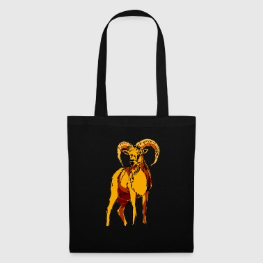 Chamois goat ram horns sheep children animals - Tote Bag