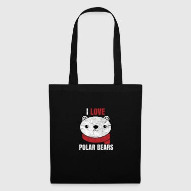 Cute cartoon animals - polar bears - Tote Bag