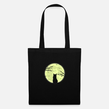 Pet Cat moon shadow gift Christmas - Tote Bag