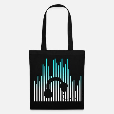Dj EQUALIZER and Headphones - Tote Bag