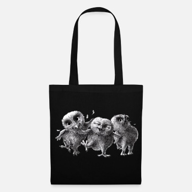 Chouette chouettes - three crazy owls - Tote Bag