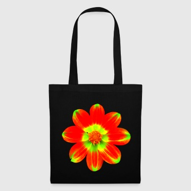 Flora wonderful red yellow flower, blossom, nature - Tote Bag