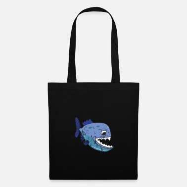 Piranha Retro vintage grunge style piranha fish - Tote Bag