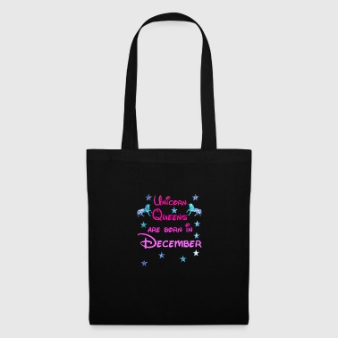 Unicorn Queens né décembre Décembre - Tote Bag